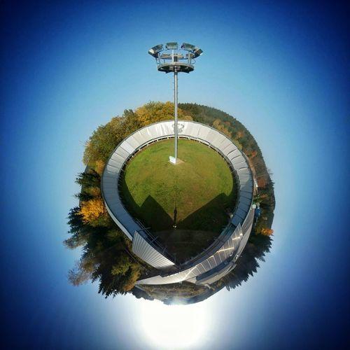 Circle Planet Earth Water Sport No People Day Outdoors Basketball - Sport Miniplanet MiniPlants Miniplanete Miniplantjes SamsungGear Samsunggearvr Oberhof Rodelbahn