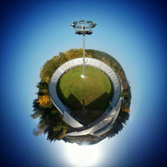 Circle Planet Earth Water Sport No People Day Outdoors Basketball - Sport Miniplanet MiniPlants Miniplanete Miniplantjes SamsungGear Samsunggearvr Oberhof Rodelbahn