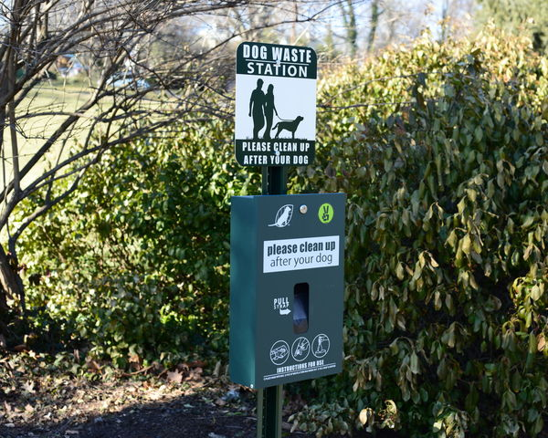 Arrow Symbol Capital Letter Communication Direction Directional Sign Dog Poo Station Dog Sign Guidance Information Information Sign Non-western Script Park Pole Road Sign Sign Text Warning Sign Western Script