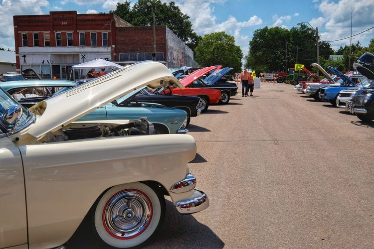 Car Show 2016 Old Settlers Picnic Village of Western, Nebraska Automobile Cars CarShow Carspotting Classic Car Classic Car Show Color Photography In A Row Land Vehicle Mode Of Transport Old Settlers Picnic Outdoors Parked Parking Photo Essay Photography Road Sunny Transportation Vintage Automobile Western Nebraska