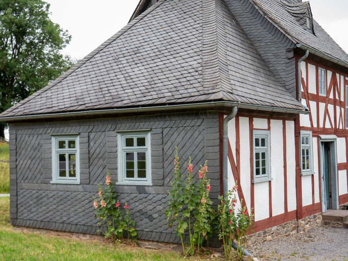 LWL Open Air Museum Detmold Built Structure Building Exterior Architecture Building House Window Residential District Plant No People Day Roof Tree Nature Outdoors Sky Low Angle View Old Growth City Green Color Roof Tile Historical Building Museum Open Air Museum Open Air Museum Detmold