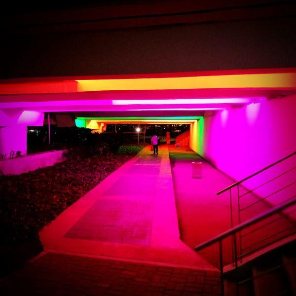 Colour Of Life Colorful Lights Night Lights Night Wayhome Rainbowway Mobilephotography HuaweiP9 Leicacamera