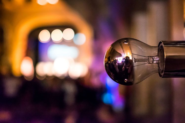 Bokeh Circle Close-up Copy Space Electric Light Event Focus On Foreground Ideas Illuminated Light Light Bulb Mirror Reflection Spotlight Stage
