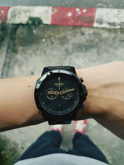 Nixon Human Body Part Human Hand One Person Close-up Time Holding People Adult Day Adults Only Outdoors One Man Only Watch City Only Men Wristwatch Clock Clock Face Minute Hand