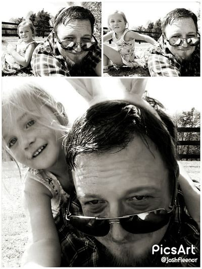 Togetherness Happiness Outdoors Multiple Image TheThingsILoveMost Myinspirations Simple Moments ILoveThisLife Myweakness Keytomyheart Journeyoflife Photooftheday Perspective Blackandwhite Photography Blackandwhite Enjoying Life Beautiful Farm Photography.. Country Life Daddy's Girl <3 Cute Myjourney