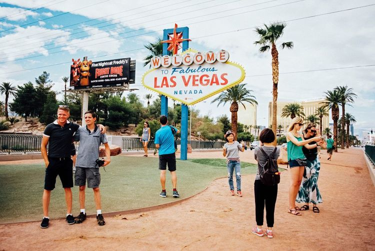 Been to Las Vegas Selfie ✌ 35mm Film Las Vegas Tourist Attraction  People Analogue Photography