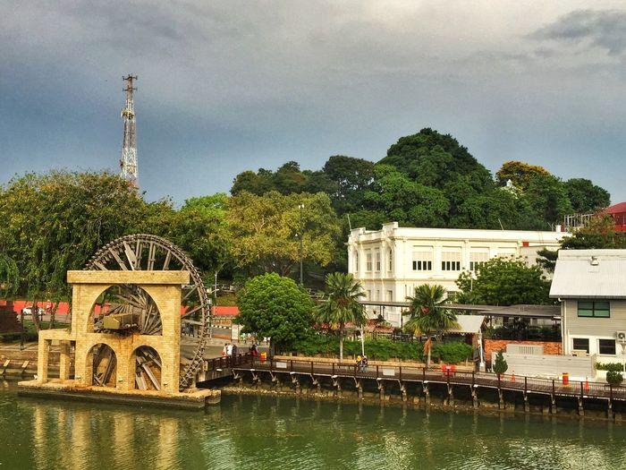 Waterwheel @ Historic city of Malacca . Traveling