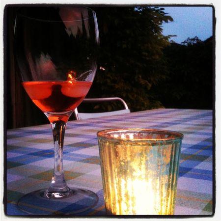 Evening Sky Drinking In My Garden