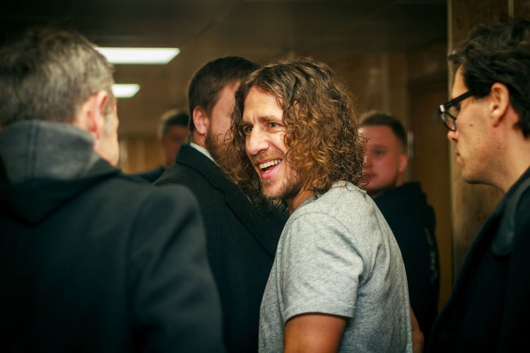 Barcelona Carles Puyol Fifa Football Legend Sportsman Casual Clothing Fifa2018 Happiness Men Smile Smiling