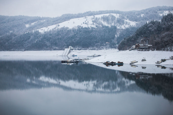 Landscape_Collection Nature Winter Beauty In Nature Cold Cold Temperature Day Lake Lake View Landscape Mountain Mountain Range Nature No People Outdoors Reflection Scenics Sky Snow Tranquil Scene Tranquility Transportation Tree Water Winter