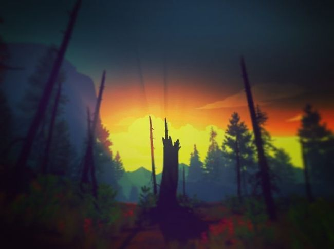 Firewatch Game Screenshot Gaming Videogames Games Game Sunset Sunrise Amazing Captures Herewego Lifeisgood Artistic Instapic Instagram Picoftheday World Instagamer IGN Kotaku Pcgamer Lovely Lovelyday Life nature pcgaming pcgamer landscape photography