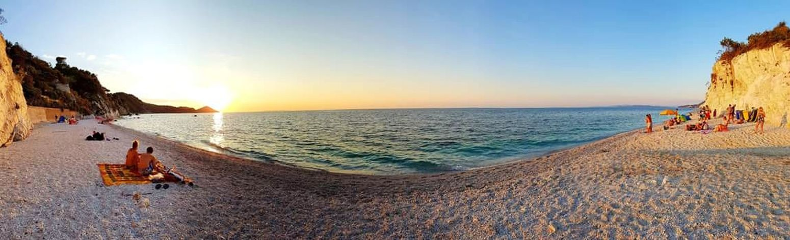 Handycam Turquoise Water Elbaisland Elba Island  Whitebeach Whitesand Italy🇮🇹 Secret Places Swimming Water Sea Wave Sunset Beach Clear Sky Sand Sand Dune Full Length Summer