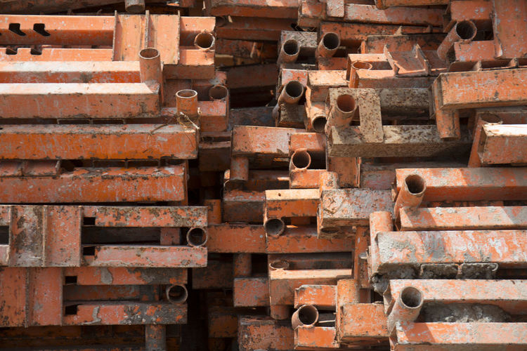 Construction Material Steel Construction Close-up Full Frame Backgrounds No People Industry Large Group Of Objects Construction Industry Repetition Architecture Abandoned Outdoors Rusty Old Architecture Material Raw Food Photography Color Image Manufactured