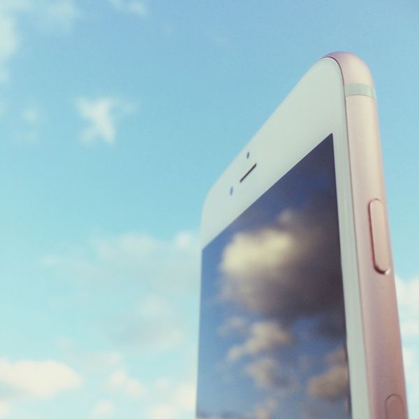 Pastel Power IPhoneography IPhone IPhone 6s+ IPhone 6s Plus Clouds And Sky Clouds Reflection Reflection_collection EyeEm EyeEm Best Shots Wallpaper Iphonecamera Rose Gold