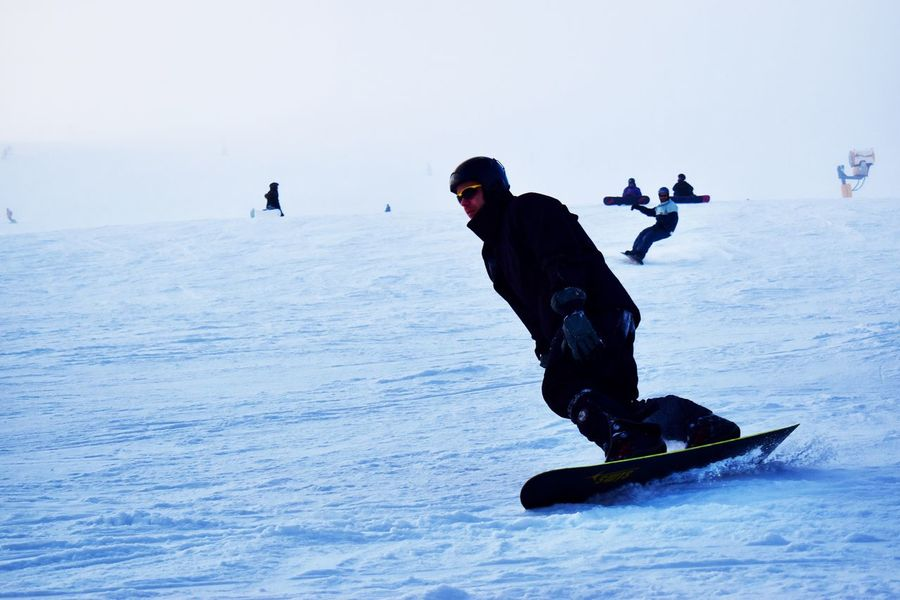 Snowboard fun. Speed No Filter Winter Snow Cold Temperature Winter Sport Snowboarding Sport Skiing Leisure Activity Adventure Ski Holiday Frozen Activity Weather Ski Goggles Lifestyles Real People Nature Fun Vacations