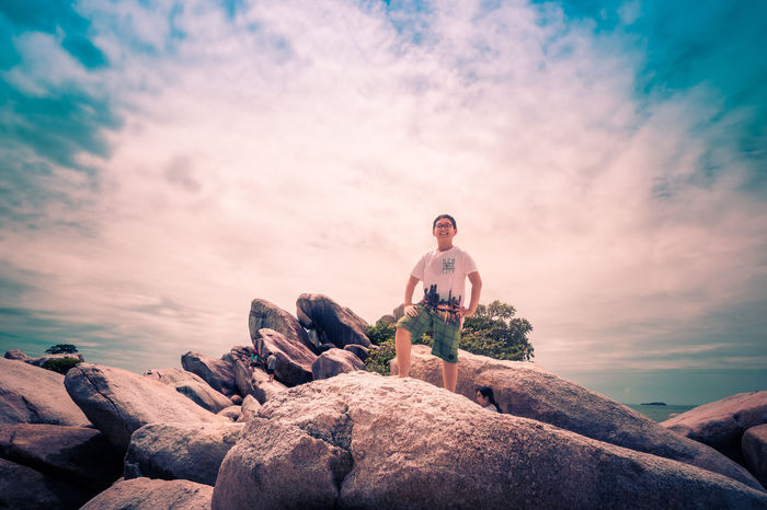 Tourism Travel Destinations Vacations Sky Rock Formation Tourist Getting Away From It All Nature Pulau Lengkuas Superhero INDONESIA Belitung Island Superheroindonesia Cloud - Sky
