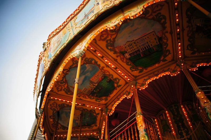 Arts Culture And Entertainment Amusement Park Low Angle View Carousel Amusement Park Ride EyeEmNewHere EyeEmNewHere