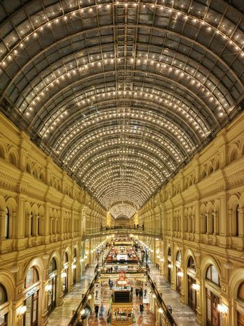Gum Moscow Shopping Mall Central Arch Architecture Indoors  Light Roof