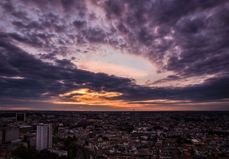 Berlin City Life Cityscape Clouds & Sky High Angle View Sunset Sunset_collection Urban