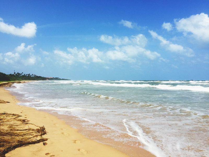 Sea Beach Water Sky Wave Nature Sri Lanka Travel Travel Destinations