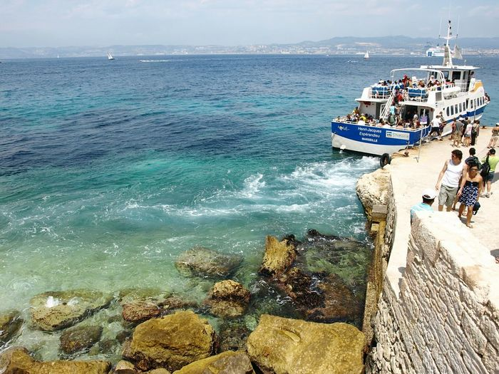 Sea Beach Water Nautical Vessel Vacations Outdoors Leisure Activity Travel Destinations Real People People Beauty In Nature Horizon Over Water Nature Sky Marseille, France Islandlife