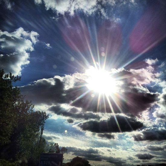 Sun Sunflare Clouds