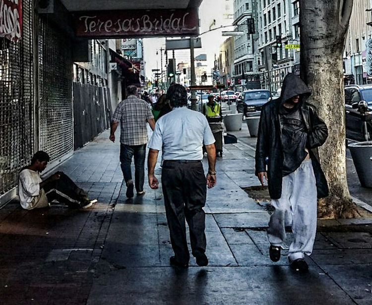 Not so shiny California Contrast Poor People  Downtown Los Angeles Daily Life Struggle Hard Pavement