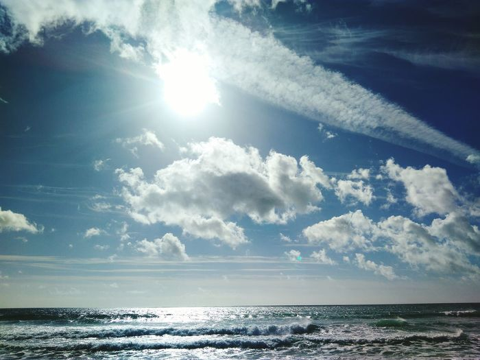 Sea Beach Nature Water Outdoors Horizon Over Water Beauty In Nature Sunlight Day No People Tranquility Blue Sky