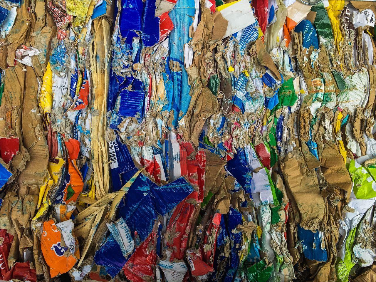 Full Frame Shot Of Trash Art