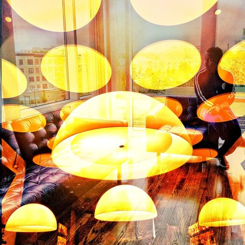 Double Exposure Indoors  Yellow Seat Adults Only EyeEmNewHere EyeEm Eyeemphotography Man View From Above View