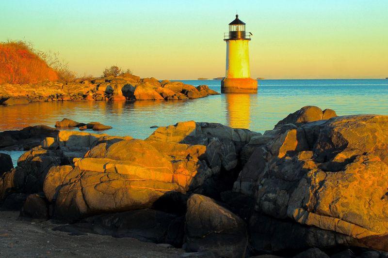 Fort Pickering Lighthouse Salem, Massachusetts Sunset_collection