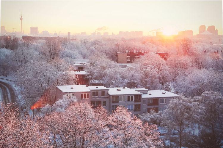 a winter morning in Berlin Akademie Der Künste Bartningallee Berliner Fernsehturm Egon Eiermann  Hansaviertel Skyline Snow Sony Center Berlin Sunrise Tiergarten Winter Wonderland EyeEmNewHere