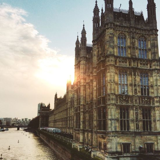 // Sunset over politics // Being A Tourist London Architecture Perspectives