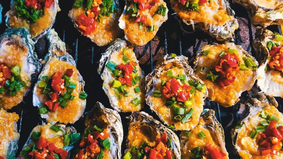 Full frame shot of seafood