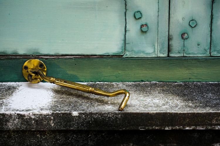 Green Gold Latch Latch Window Window Latch