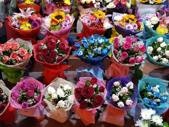 Flower Flower Market Multi Colored Flower Head Flower Shop Business Market Choice Retail  Store
