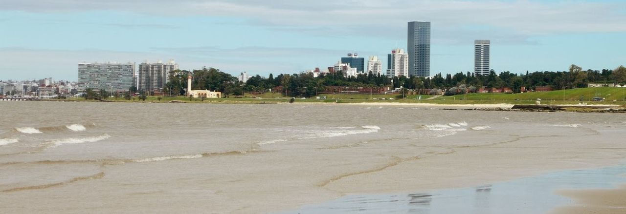 WTC Buceo Neighbourdhood, from Buceo's Beach. Nice place to live. Business Finance And Industry City Water Urban Skyline Outdoors Horizon Over Water Waterfront Tranquility Sea Apartment Clear Sky Ocean Yacht Sailboat Recreational Boat Travel Destinations