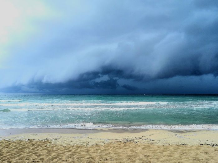 Stormy Weather Puglia Southitaly Huaweiphotography HuaweiMate7 Seaside Sea Summersky Water Sea Beach Sand Wave Blue Sky Horizon Over Water Landscape Cloud - Sky