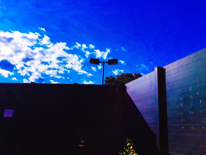 Blue Skies Get Me Outta Here Trapped Thursday Behind The Wall Lights Clouds And Sky