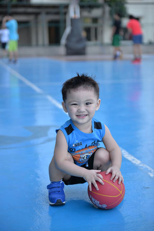 Activity Amenities Baby Baby Boy Basketball Basketball Court Basketball Game Blue Condominium Condominiums Day Time Eyeem Philippines Hoops Outdoors People Practice Toddler  Uniqueness