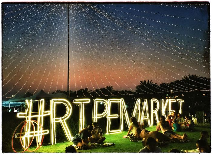 Ripe Market Organic Market Al Barsha Park Dubai Illuminated Sunset Night Dubai Winter