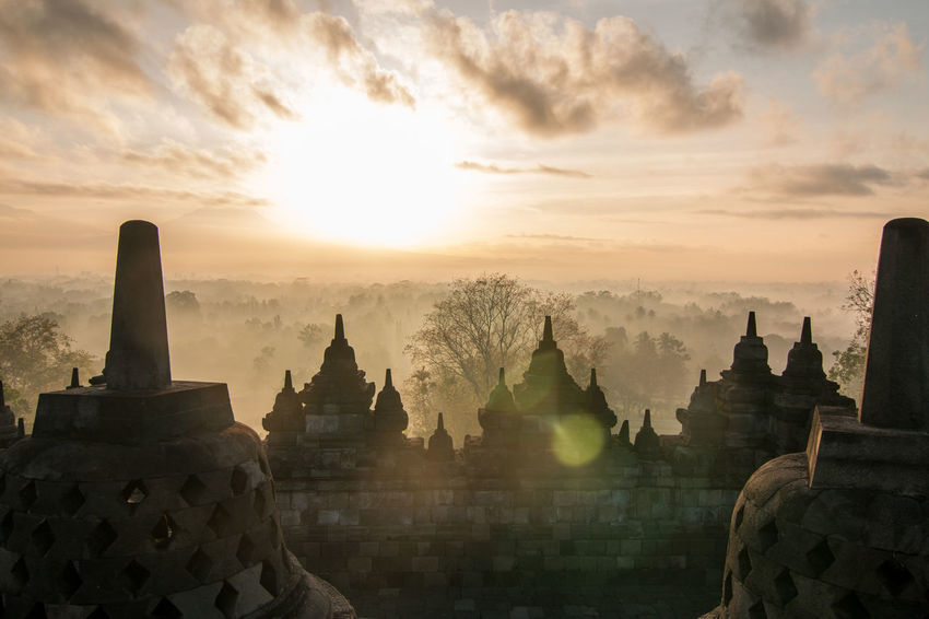 Ancient Ancient Civilization Architecture Beauty In Nature Building Exterior Built Structure Day Fog History Nature No People Outdoors Place Of Worship Religion Scenics Sky Spirituality Sunset Tourism Tranquility Travel Destinations Tree Be. Ready.