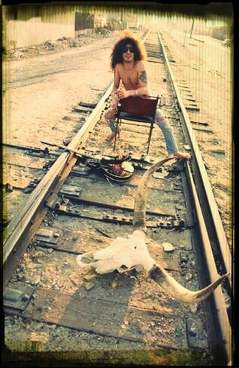 Enjoying The Sun Guitar Shadow Train Tracks Slash