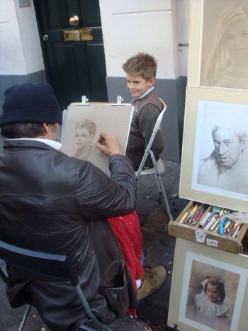 Saw this boy having his portrait drawn - Ever had your portrait drawn by these talented artists? The Street Photographer - 2014 EyeEm Awards The Purist (no Edit, No Filter) Place Du Tertre