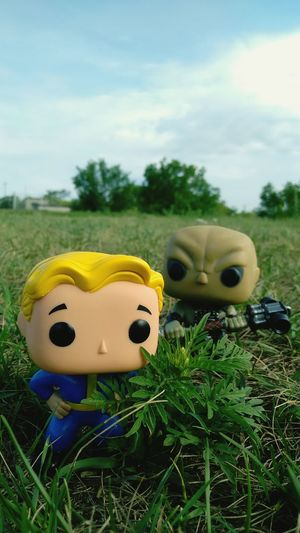 Yellow Grass Toy Transportation Plant Sky Close-up Cloud Focus On Foreground Field Day Growth Cloud - Sky Outdoors Grassy Surface Level Vehicle Green Color Funkopopvinyl Amazing Front View Still Life Creativity Vibrant Color Funko Pop Vinyl
