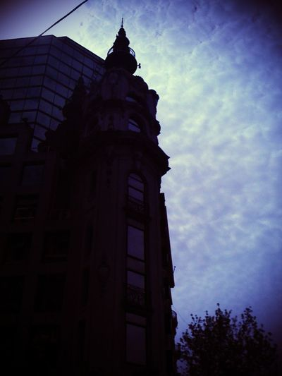 This is the late winter Buenos Aires sky and its magnificent buildings.