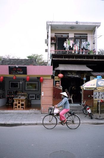 Asian Culture Contax T3 35mm Film Kodak Portra Film Vietnam Hoian  Streetphotography Bicycle Everyday Lives