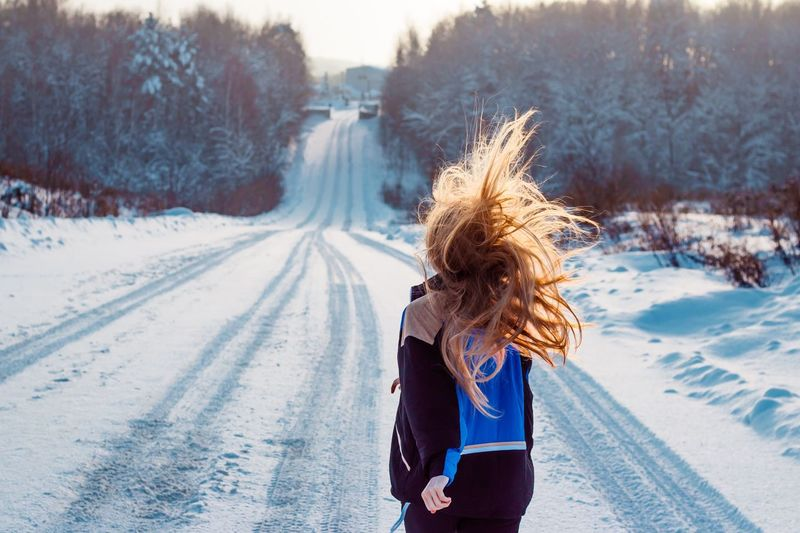 29 января. 🥰 One Person Winter Snow Cold Temperature Women Day Nature Clothing Plant Hair Hairstyle Transportation Covering Outdoors Lifestyles Rear View Tree Road Leisure Activity Real People