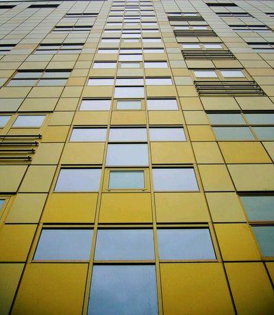 Stripes Everywhere Stripes Pattern Camera Windows Building Yellow