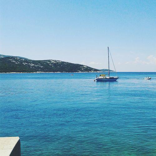 Kroatie Sea Boats⛵️ Bleu Cress Vacation Water Sky Nature Blue No People Sailboat Sailing Ship EyeEmNewHere